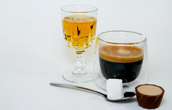 Kawa i whisky Zdjęcia Royalty Free