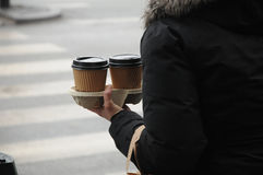 kawa idzie Zdjęcia Royalty Free
