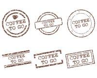 kawa idzie znaczki Zdjęcia Royalty Free