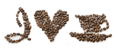 kawa ja kocham Zdjęcia Stock