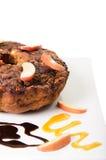 Kawa jabłczany Tort Zdjęcia Royalty Free