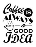 Kawa jest zawsze dobrym pomysł wycena projektem Fotografia Royalty Free