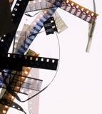 kawałków 8mm film Zdjęcia Stock