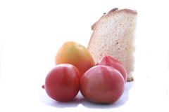 kawałka pasztetowy pomidor Zdjęcia Royalty Free