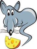 kawałka serowy szczur Fotografia Royalty Free