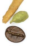 Kawa, kardamon i cynamon, Fotografia Stock