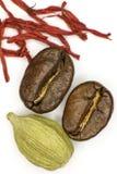 Kawa, kardamon i szafran, Zdjęcie Stock