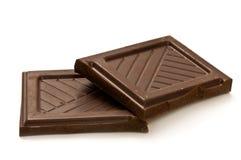 kawałki czekolady Obrazy Royalty Free