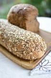 Kawałki domowej roboty wholemeal chleb Fotografia Royalty Free