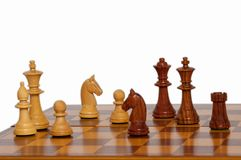 kawałki szachowi drewnianych Obraz Stock