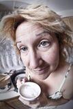 kawa kobieta target2360_0_ kobiety Zdjęcie Stock