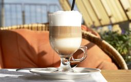 kawa latte Fotografia Stock