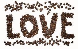 Kawa list - miłość fotografia stock