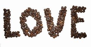 Kawa list - miłość zdjęcie royalty free