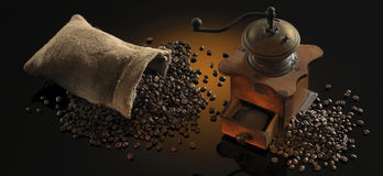 Kawa młyn obrazy stock