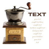 Kawa młyn Fotografia Royalty Free