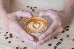 Kawa miłość Obraz Royalty Free