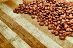 Kawa na grunge drewnianym tle Zdjęcia Stock