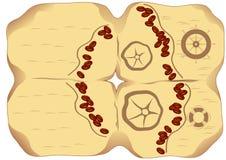 Kawa na mapie Obrazy Royalty Free