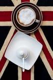 Kawa na stole Fotografia Royalty Free