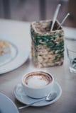 Kawa na stole Zdjęcia Stock
