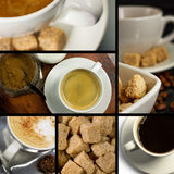 kawa na temat kolaż Fotografia Royalty Free