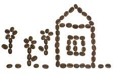 kawa nadal życie fasoli Obrazy Royalty Free