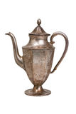 kawa odizolowywający garnka srebra biel Zdjęcie Royalty Free
