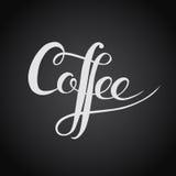 Kawa Oryginalny obyczajowy ręki literowanie Handmade kaligrafia, ve Zdjęcia Stock
