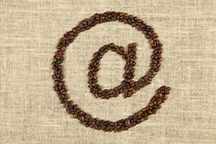 Kawa przy Fotografia Royalty Free