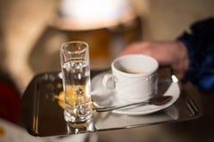 Kawa przy restorant Zdjęcia Stock