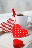 Kawa robić z miłością Zdjęcie Royalty Free