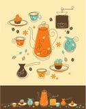 Kawa set royalty ilustracja
