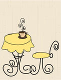 kawa stylizujący stół Zdjęcia Royalty Free
