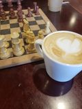 Kawa & szachy fotografia royalty free
