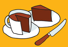Kawa & tort Obrazy Stock
