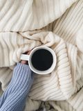 Kawa w łóżku zdjęcia stock