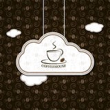 Kawa w chmurach z rocznika wzorem Zdjęcie Royalty Free