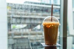 Kawa w deszczowym dniu Zdjęcia Stock