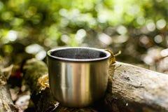Kawa w drewnach Fotografia Stock