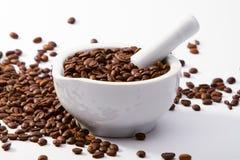 Kawa w moździerzu Zdjęcia Stock