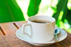 Kawa w ogródzie Zdjęcie Stock