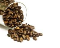 Kawa w szkle na białym tle Obrazy Stock