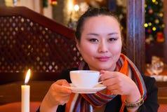 Kawa w wieczór Fotografia Royalty Free