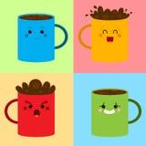 Kawa wzór Fotografia Stock
