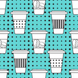 Kawa wzór Zdjęcie Royalty Free