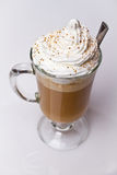 Kawa z batożącą śmietanką Obraz Royalty Free