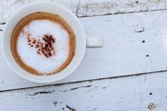 Kawa z białą filiżanką fotografia royalty free