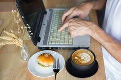 Kawa z chlebem Zdjęcia Stock