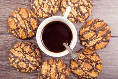Kawa z ciastkami Zdjęcia Royalty Free